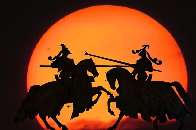 rytíři na koních